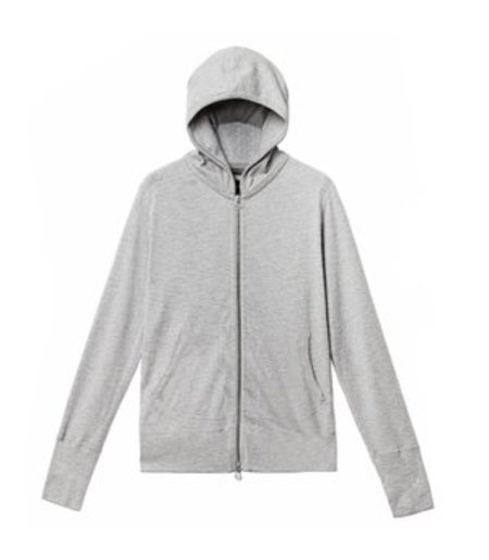 Wings + Horns 1x1 Slub Zip Hoody - HEATHER GREY