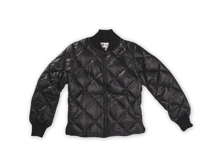 CRESCENT DOWN WORKS Diagonally Quilted Sweater - Black
