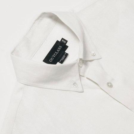 Outclass Attire linen S/S Shirt - WHITE