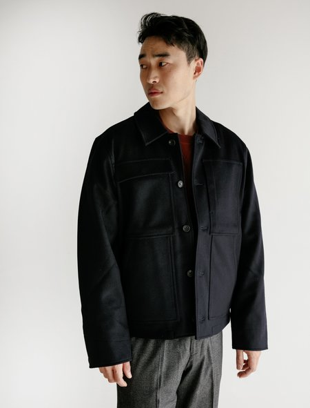 Childs Melton Wool Booth Jacket - Navy