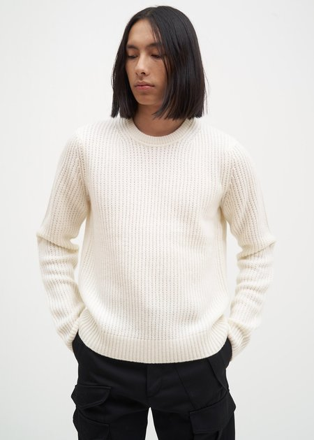 Helmut Lang Ivory Wool Sweater - Ivory