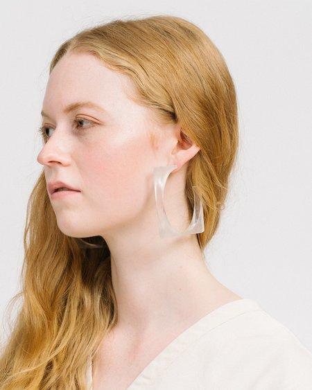 Rachel Comey Tuck Earrings Loops - Clear