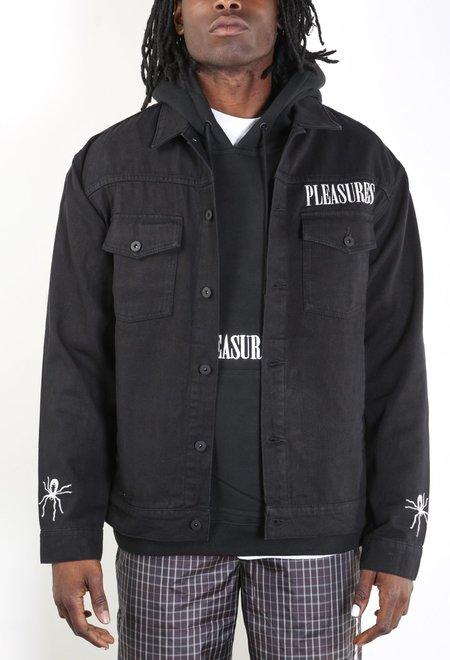 Pleasures Web Denim Jacket - Black