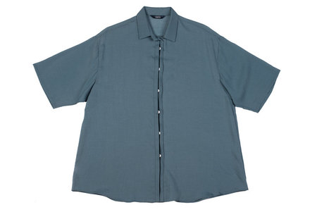 Kaarem Beat Button Down Top - Algae blue