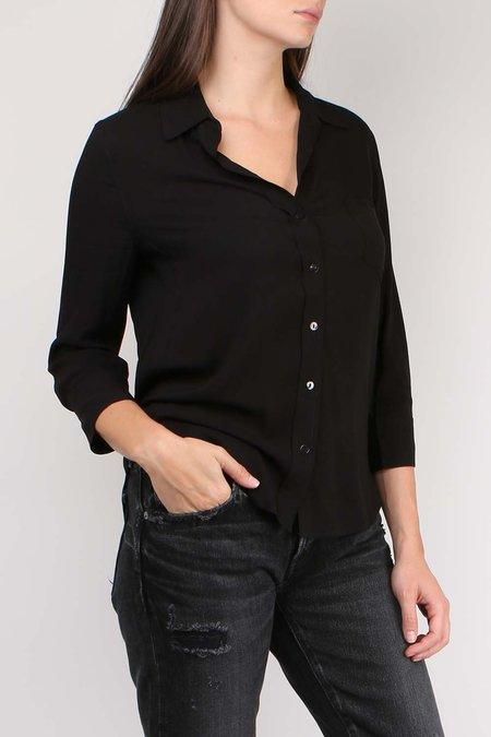 L'agence Ryan 3/4 Sleeve Blouse - BLACK