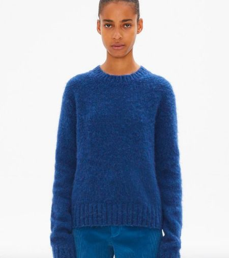 Helmut Lang Long Sleeve Brushed Crewneck