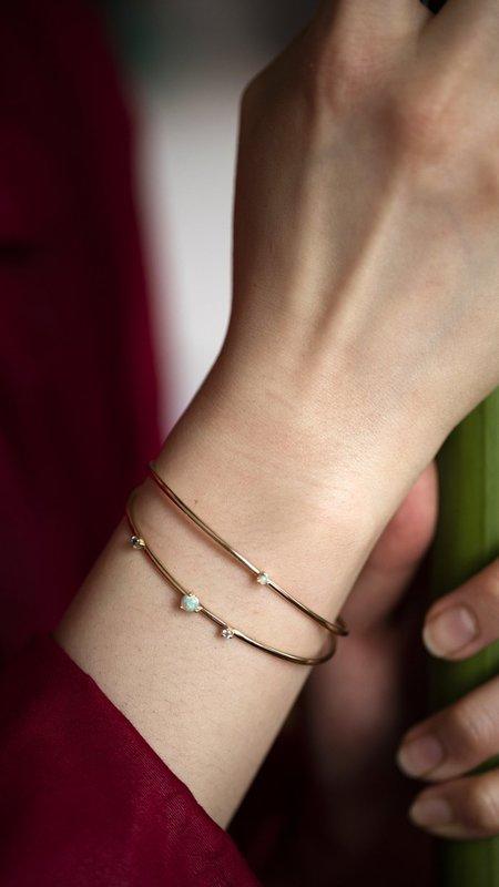 WWAKE Single Opal Cuff Bracelet