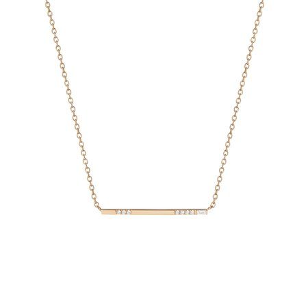 Shahla Karimi Baguette Bar Necklace