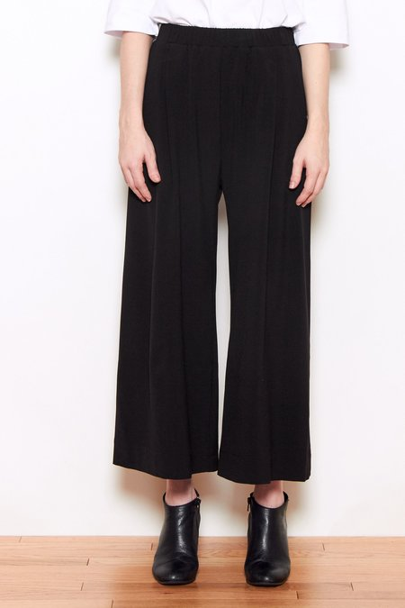Grei Wide Crop Pant - Black