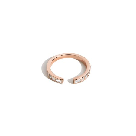 Shahla Karimi Rotating Stone Open Band Ring
