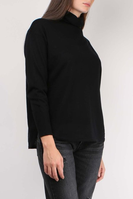 C.T. plage Turtleneck Pullover - BLACK