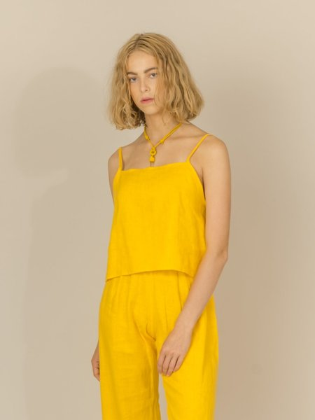 Lloyd Linen Tank Top - Yellow