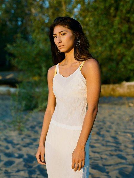Shop Boswell Vintage Crinkly Slip Dress - White