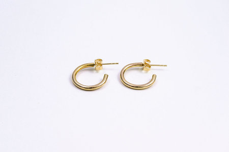 Muraco Wolfe Baby Hoops - Gold