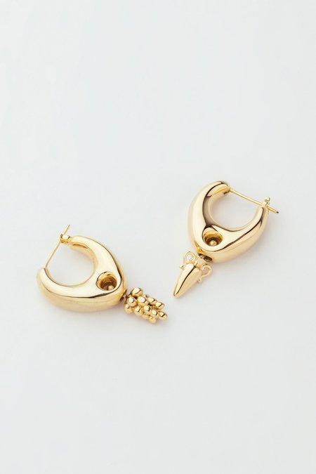 MM Druck Gold Vermeil Delphi Earrings