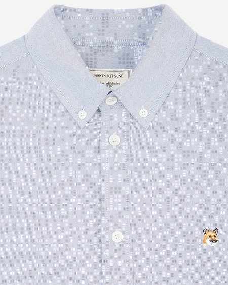 Maison Kitsune Fox Head Patch Oxford Shirt - Navy