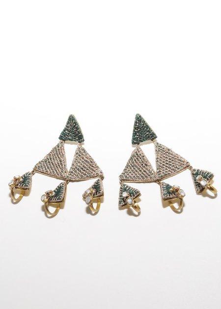 Nani Haveli Large Embroidery Earring - 14