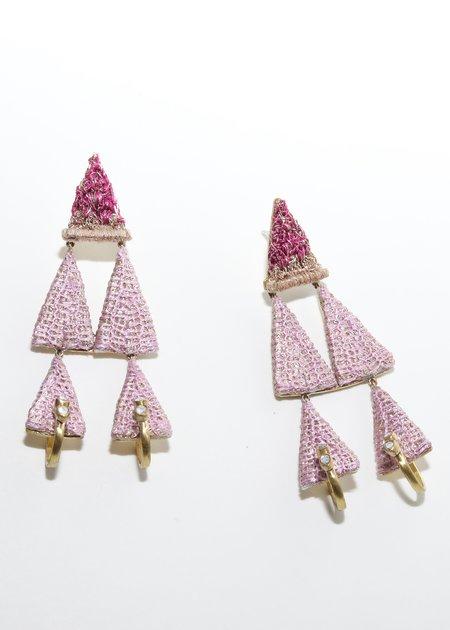 Nani Haveli Large Embroidery Earring - 21