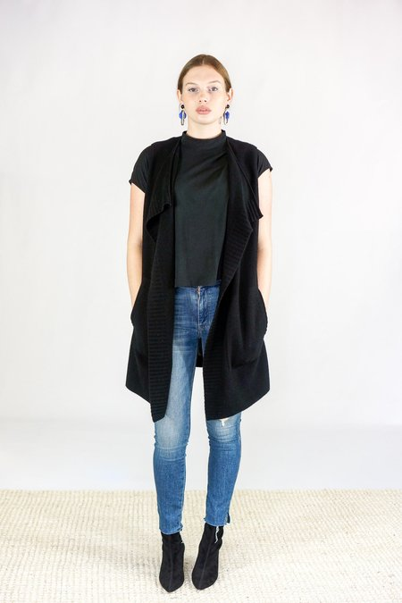 Duffy Cashmere Vest - Black