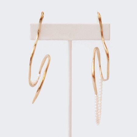 Faris Vinea Perla Earrings - Bronze