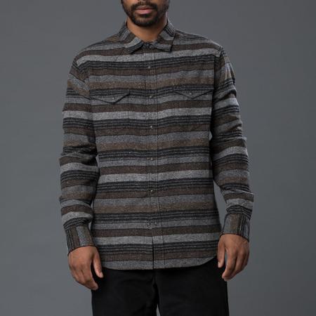 Krammer & Stoudt Wayne Western Shirt - Brown Stripe