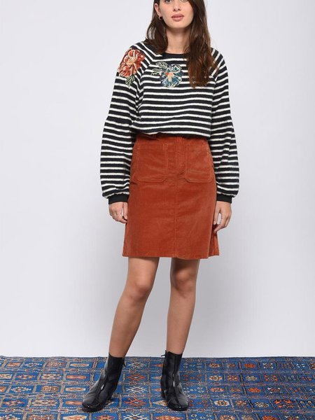 Leon & Harper Shoupettou Flower Sweatshirt - Stripe
