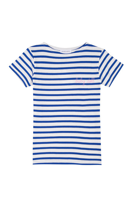 Maison Labiche Baby Doll Sailor Shirt - White/Blue