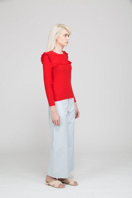 Des Petits Hauts Bibbed Sweater - ROUGE