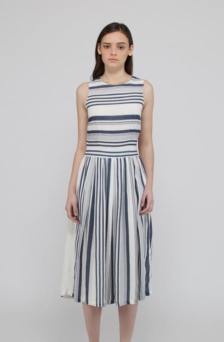 Deby Debo Janelle Dress - NAVY/WHITE