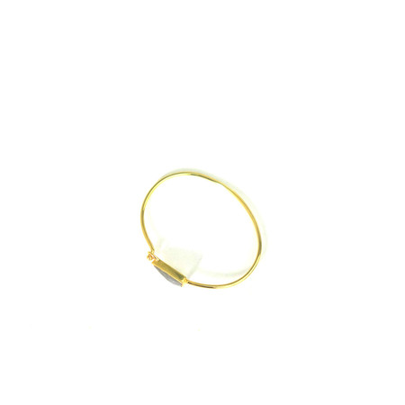 Katie Diamond Savannah Bangle - 18k Gold/Labradorite
