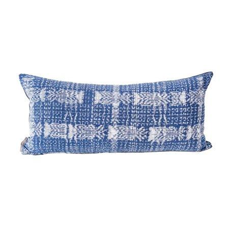 Valiente Goods Lumbar Ikat Pillow - Indigo