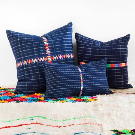 Valiente Goods Small Corte Pillow - Indigo