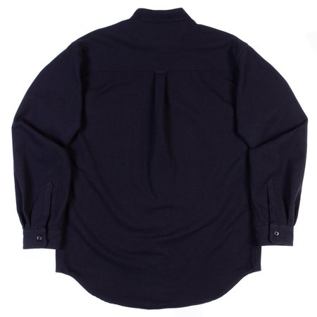Orslow Stand Collar Long Sleeve Shirt - Navy