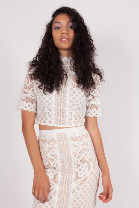 Keepsake Bridges Lace Top - IVORY