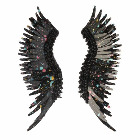 Mignonne Gavigan Madeline Earrings - Black Paint Splatter