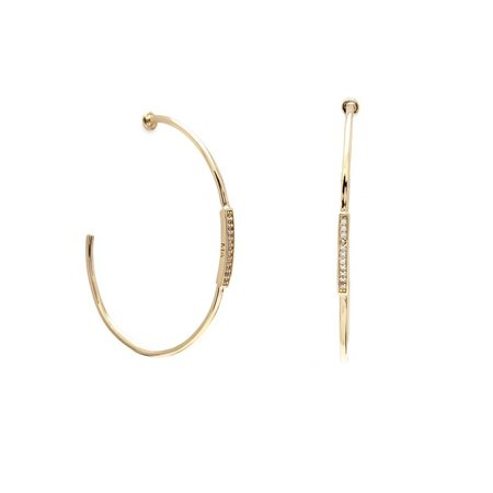 Melanie Auld Pave Bar Hoops - Gold