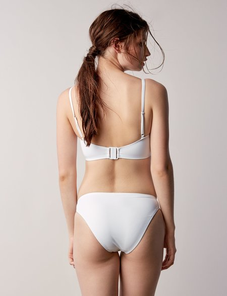 Fortnight Swim Bikini Bottom - WHITE