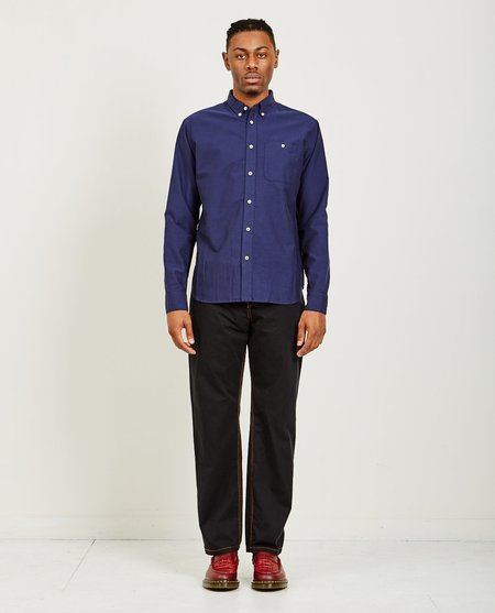 A Kind of Guise PERMANENTS BUTTON DOWN OXFORD - INDIGO