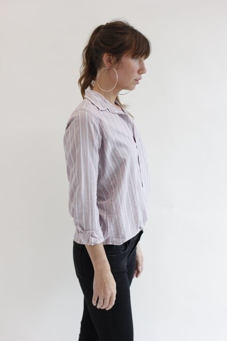 Frank & Eileen Barry Shirt - Washed Red/Multi-Stripe