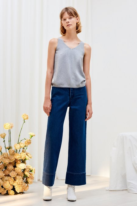 Kowtow Knitted Singlet - Grey Marle