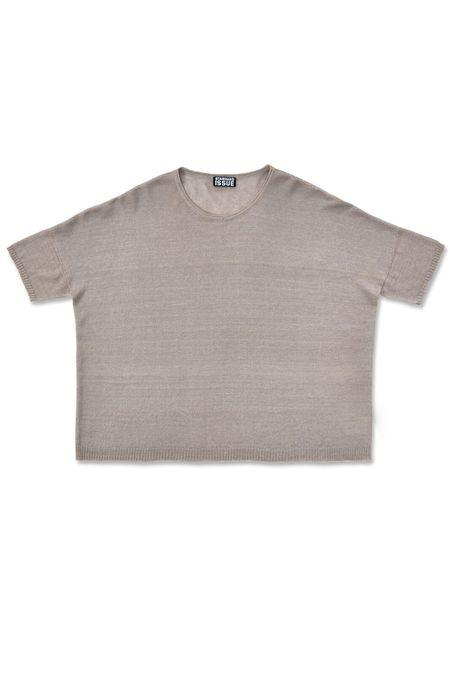 Standard Issue Linen Wide T-Shirt - Sesame