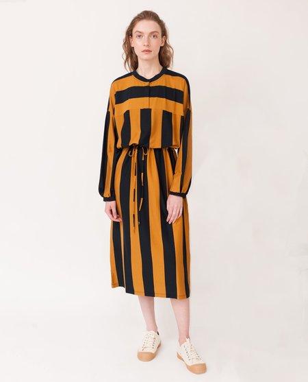 Beaumont Organic Carina Organic Cotton Dress - Navy/Rust