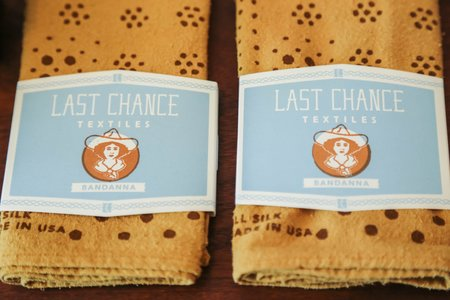 Last Chance Textiles Dot Bandana - Osage Wood/Rust