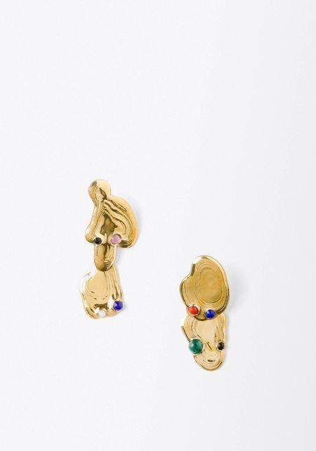 Leigh Miller Dali Dangle Earrings - Brass