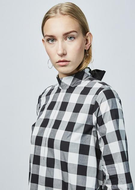 Fabiana Pigna Lippa Back-Tie Dress - Black/White Gingham