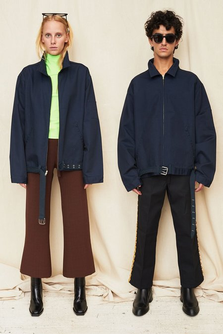 Unisex Assembly New York Navy Belted Zip Coat