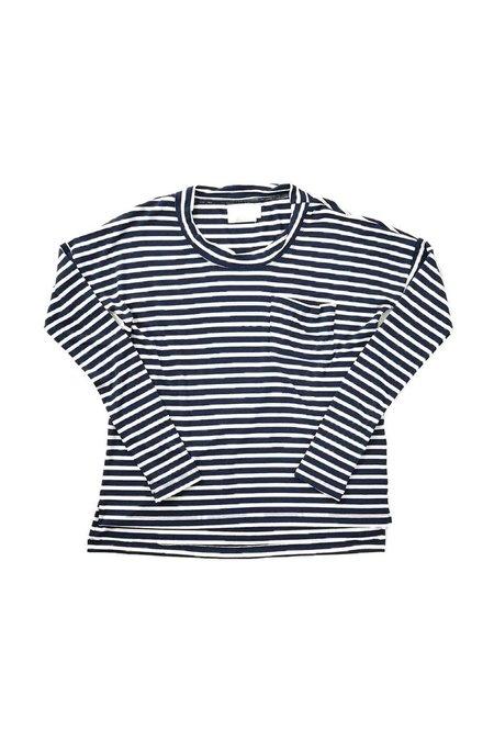 Maison Du Soir Edith/Peony Sleep Set - Navy Stripe