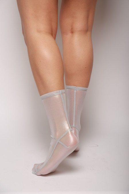 darner Mesh Socks - White Foil