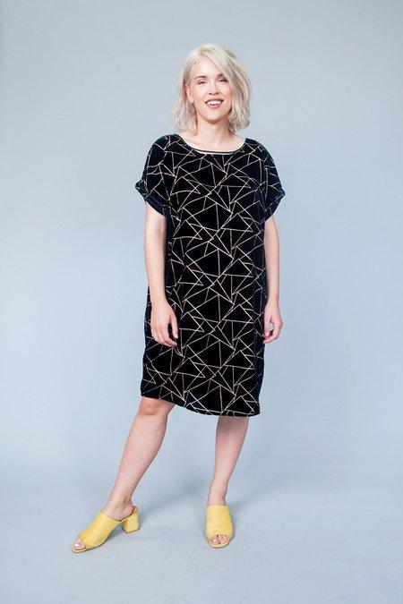 Sara Duke YFS Dress - Black Burnout Velvet