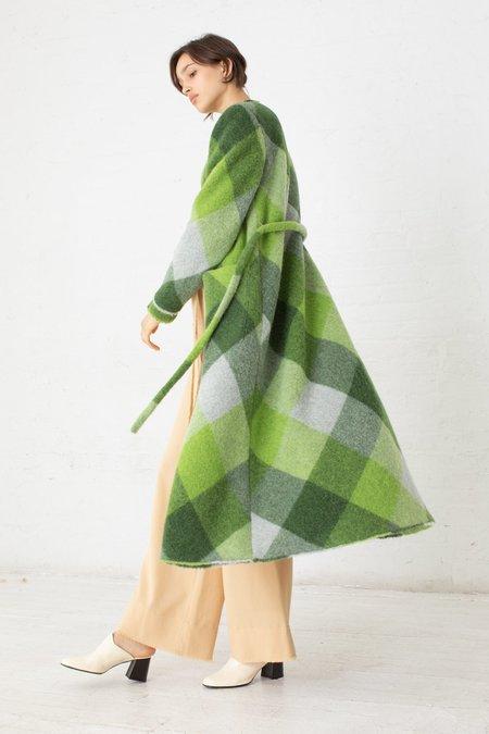 Veronique Leroy Coat with Belt - Multi Green